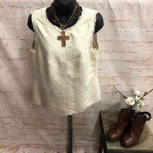 Banana republic sleeveless blouse size 10
